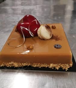 Feuilletine med sjokoladehjerte